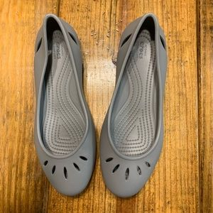 Gray Ballet Crocs Women's 8